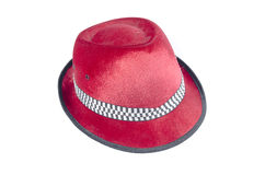 Velvet hat red Stock Photography