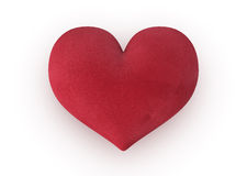 Velvet heart royalty free stock photo