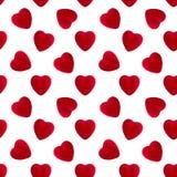 Velvet heart seamless pattern Stock Photo
