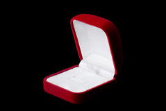 Velvet jewelery  box Royalty Free Stock Photos