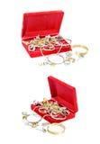 Velvet Jewelry Box Royalty Free Stock Photo