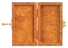 Velvet lined box. Small velvet-lined box is opened up to expose the inside Royalty Free Stock Photo