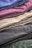 Velvet Pants of Assorted Colors Isolated on White #6 Stock Images
