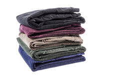 Velvet Pants of Assorted Colors Isolated on White #4 Royalty Free Stock Photos
