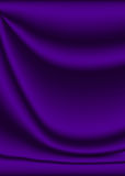 Velvet purple. Velvet material background in purple with creases and ripples Royalty Free Stock Photo