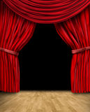 Velvet red curtain frame Royalty Free Stock Photos