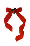 Velvet ribbon for Christmas Stock Photos