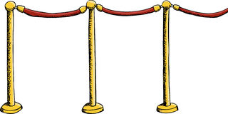 Velvet Rope Barrier Stock Image
