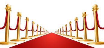 Velvet rope and red carpet illustration Royalty Free Stock Photos