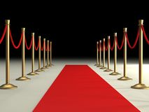 Velvet Ropes and Red Carpet Stock Photos