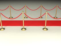 Velvet Ropes and Red Carpet Stock Photography