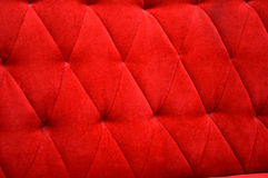 Velvet seat upholstery. Texture and pattern of red velvet seat upholstery Royalty Free Stock Images