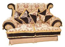 Velvet sofa Royalty Free Stock Image