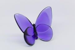 Velvet souvenir glass butterfly Stock Photography