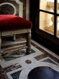 Velvet stool Stock Photo