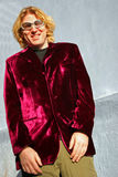 The velvet suit Stock Photography