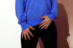 Velvet trousers Stock Image
