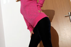 Velvet trousers Stock Photo