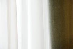 Velvet window curtain Stock Photos