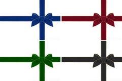 Velveteen ribbon set Royalty Free Stock Image