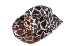 Velveteen Stetson leopard colours Stock Photography
