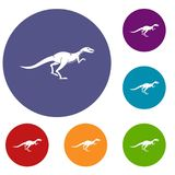 Velyciraptor icons set Royalty Free Stock Images