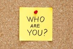 Vem är dig Arkivbild
