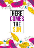 Vem aqui o Sun Fotos de Stock