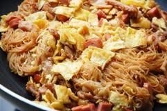 Vemicelli do arroz fritado Imagens de Stock