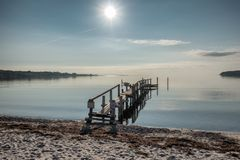Vemmingbund in the southern part of Denmark on a foggy autumn mo. Vemmingbund in the southern part of Denmark on an autumn morning Royalty Free Stock Images