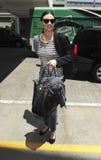 Ven al top model Miranda Kerr en LAX Fotos de archivo libres de regalías