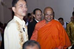 VEN. KIRINDE DHAMMARATANA NAYAKA MAHA THERA. KUALA LUMPUR, MALAYSIA, May 17, 2011 : Ven. Kirinde Dhammaratana Thera the Chief Incumbent of Buddhist Maha Vihara Stock Images