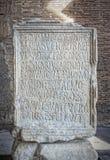 Venantius Inscription Stone Slab Royalty Free Stock Photography