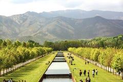 Venaria公园,皇家住所在都灵,山麓 免版税库存图片