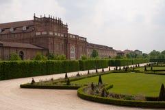 Venaria宫殿的意大利庭院,都灵,意大利 库存图片