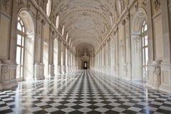 venaria för kunglig person för di diana galleriaitaly slott Arkivfoton