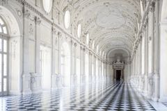 Venaria, Italy - June 27, 2014: Reggia of Venaria Reale. royalty free stock image