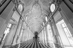 Great Gallery, at the Royal Palace of Venaria Reale, former roya Stock Photos