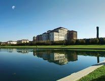 Venaria Reale - le palais de Savoia dans le coucher du soleil photographie stock