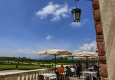 Venaria reale, Piedmont region, Italy. June 2017. The cafeteria available for tourists royalty free stock photos