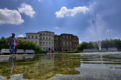 Venaria reale, Piedmont region, Italy. June 2017. The facade of the palace. royalty free stock photos