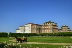 Venaria Reale, Piedmont region, Italy. June 2017. The landscape of the gardens of the royal palace stock photo