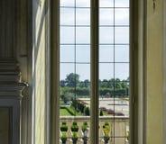 Venaria-reale, Piemont-Region, Italien Juni 2017 Ein Blick heraus auf den majestätischen Gärten des Palastes Lizenzfreies Stockbild