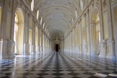 Venaria Reale - Royal Residence - ballroom. The ball room of the country Royal Palace of the Savoiard dynasty at Venaria Reale, recently restored Royalty Free Stock Photography