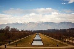 Venaria Reale trädgårdar, Turin, Italien Royaltyfri Bild