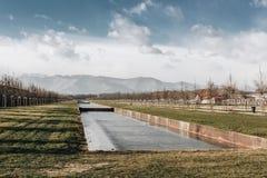 Venaria Torino - l'Italia vista del dicembre 2011 dei giardini in Royal Palace di Venaria Eredità dell'Unesco fotografia stock libera da diritti