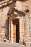 Venasque church door Stock Photo