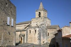 Venasque kyrka, Luberon; Provence Arkivfoton