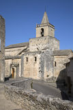 Venasque kyrka, Luberon; Provence Royaltyfri Fotografi