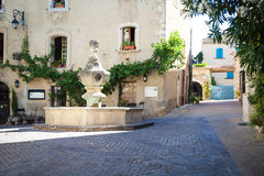 Venasque Provence France. Scenes in the old village of Venasque in Provence Royalty Free Stock Images